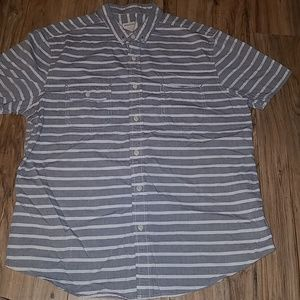 Life After Denim large mens striped chambray shirt